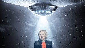 Hillary Clinton: believer in UFOs?