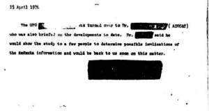 CIA UFO Document Redacted