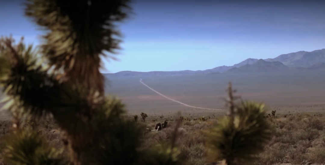Scene from the Area 51 documentary called Behind Area 51